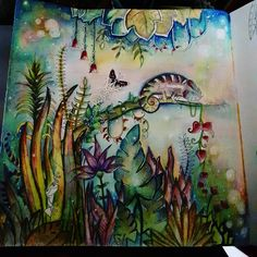 Inspirational Coloring Pages by @wani_omar #magicaljungle #johannabasford