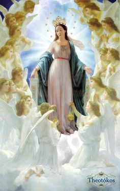 Mary Queen of Heaven ~ Even the Seraphim themselves might descend from their lofty throne in heaven to take a lesson in love from the heart of Mary. St. Alphonsus Liguori