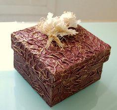 cajas decoradas con papel de cocina