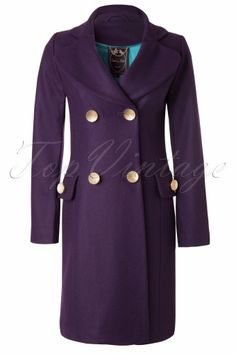Edith & Ella - Classic Purple Wool Coat