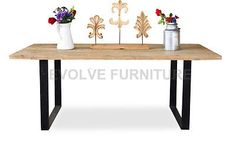 Dalton Reclaimed Dining Table - Rustic Natural 198cm (DT540)