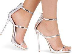 "Giuseppe Zanotti ""Harmony"" Metallic Leather Sandals"