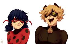 Their personalities in a nutshell... (Miraculous Ladybug, Chat Noir, lol)