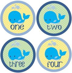 Baby Month Stickers Baby Boy Monthly Onesie Stickers Whale Sea by getthepartystarted, $12.00 more baby shower gift ideas at  http://www.etsy.com/shop/getthepartystarted?section_id=6771147
