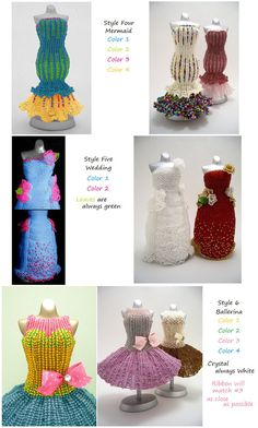 Miniature Bead Dress Made-To-Order by pinkythepink on Etsy