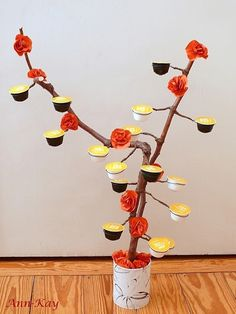 Ann-Kay Home: DIY: Coffee Capsules Tree Tutorial