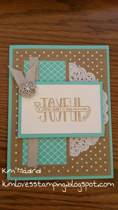 Stampin' Up! Banner Blessings ... www.kimlovesstamping.blogspot.com