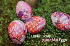 fabric scrap eggs
