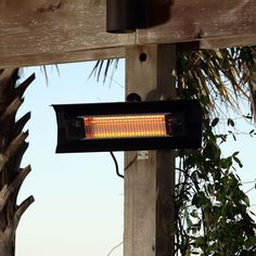 Handsome but subtle, the Fire Sense Stainless Steel Wall Mounted Infrared Patio Heater provides efficient, discreet warmth. This stainless steel wall-mount. Fire Pit Heater, Propane Patio Heater, Outdoor Heaters, Porch Heater, Fire Pits, Outdoor Heating Ideas, Outdoor Spaces, Outdoor Living, Outdoor Decor