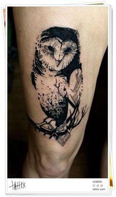 tatuagem de coruja significado:
