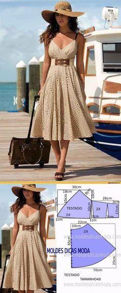 30 New Ideas Sewing Dress Summer Tuto Robe Sewing Dress, Dress Sewing Patterns, Diy Dress, Sewing Clothes, Clothing Patterns, Diy Clothes, Sundress Pattern, Dress Ideas, Kimono Dress