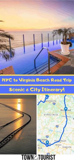 Interactive Road Trip Map Road trip planner NYC to Virginia Beach Road Trip Itinerary Best places to stop New York & Virginia Beach Best driving route Virginia Beach weekend getaway via Road Trip Map, Road Trip Planner, Travel Planner, Road Trips, Budget Travel, Beach Road, Beach Trip, Beach Travel, Roses
