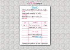 Library Card Invitation Template   Library Card Baby Shower Invitation - Printable - 4.25x5.5 digital ...