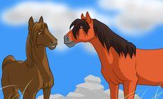 Storm with his mare Kalari- boon boons sister Moose Art, Sisters, Lovers, Horses, Random, Horse, Casual