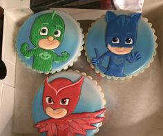 Cookies for the PJ Masks party. Aimee works magic.