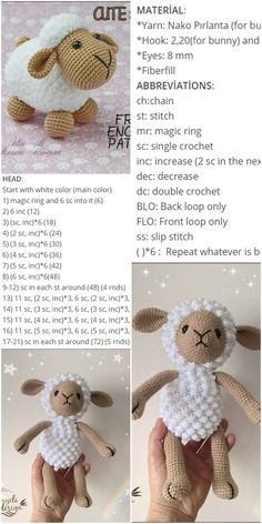 Free Amigurumi Crochet Doll Pattern and Design ideas – Page 8 of 37 – Daily Crochet! Free Amigurumi Crochet Doll Pattern and Design ideas – Page 8 of 37 – Daily Crochet!Free cute amigurumi patterns 25 amazing crochet ideas for beginners to make ea Crochet Sheep Free Pattern, Crochet Animal Patterns, Crochet Doll Pattern, Crochet Bunny, Stuffed Animal Patterns, Crochet Patterns Amigurumi, Cute Crochet, Crochet Dolls, Amigurumi Doll