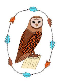 Wise Owl Greeting Card by SophieParker on Etsy, £2.50