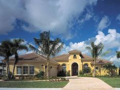 Eplans Mediterranean House Plan - A Tranquil Aura in Stunning Design - 3433 Square Feet and 4 Bedrooms from Eplans - House Plan Code HWEPL14052