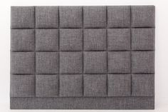 FROM £1,198.00 excluding fabric Straight lines and symmetry coupled with soft grey fabric bring hotel chic to your master bedroom. Subtle stitching defines each upholstered square for a look that lasts. Finishes: Fitted cover with stitched detail. Options: Other fabric choices are available.