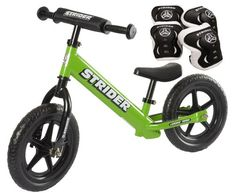 Special Offers - Strider ST-4 Balance Bike with Elbow Pads & Knee Pads (Green) - In stock & Free Shipping. You can save more money! Check It (April 08 2016 at 05:25AM) >> http://roadbikesusa.net/strider-st-4-balance-bike-with-elbow-pads-knee-pads-green/