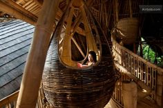 Relax in the reading pod, hanging sofa, Bali