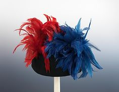 Hat  Elsa Schiaparelli (Italian, 1890–1973)  Date: winter 1936–37 Culture: French Medium: wool, feathers Dimensions: 8 x 12 in. (20.3 x 30.5 cm) Credit Line: Brooklyn Museum Costume Collection at The Metropolitan Museum of Art, Gift of the Brooklyn Museum, 2009; Gift of Arturo and Paul Peralta-Ramos, 1955