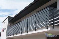 Balcony balusters MODERN fence balustrade - All About Balcony Balcony Grill Design, Balcony Railing Design, Modern Railing, Modern Staircase, Modern Fence, Door Design, Exterior Design, House Design, Balustrade Balcon