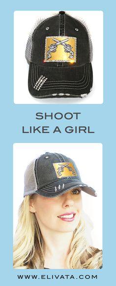 e8fdd903 Double Pistol - Bling Hat - Gun Trucker - Swarovski Rhinestones - Crossed  Pistol - Trucker Hat - Patch Trucker Hat - 2 guns - NRA Hat