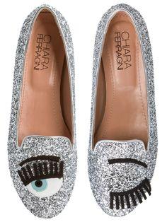 Shop2gether - Sapato Feminino Sleepers Flirting Glitter - Chiara Ferragni- Prata