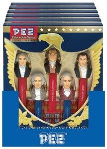 Pez of the first five presidents.