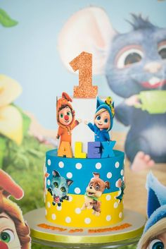 foto de DAVE AND AVA 1ST BIRTHDAY CAKE Children's Cakes Dave