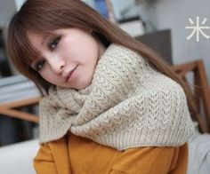 Winter male scarf female pullover warm mohair knitted crochet scarf solid winter scarf