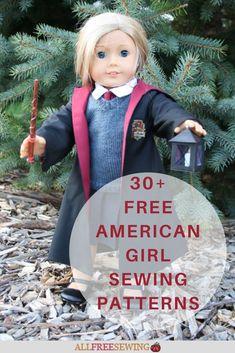 30+ American Girl Doll Sewing Patterns Doll Dress Patterns, Sewing Patterns For Kids, Sewing Projects For Kids, Sewing For Kids, Clothing Patterns, Girl Doll Clothes, Sewing Clothes, Girl Dolls, American Girl Diy