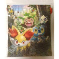 Pokemon Center 2013 Fennekin Froakie Chespin Pancham Helioptile Fletchling Drawstring Dice Bag