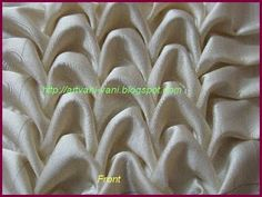 Canadian smocking by joining 2 points - Shell design