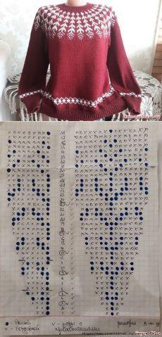 Fair Isle Knitting Patterns, Knitting Charts, Sweater Knitting Patterns, Knitting Designs, Knitting Yarn, Knit Patterns, Free Knitting, Knitting Needles, Mittens Pattern
