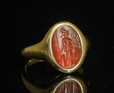 Roman intaglio Athena.