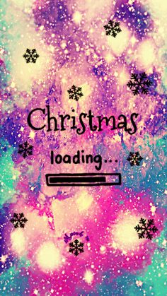 Christmas Is Loading Galaxy Wallpaper #androidwallpaper #iphonewallpaper #wallpaper #galaxy #sparkle #glitter #lockscreen #pretty #pink #cute #snowflakes #girly #snow #christmas #winter #colorful #season