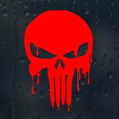 20Pcs car sticker Bloody Red Punisher Skull Car Decal Vinyl Sticker For Window Panel Bumper wall stickers muraux for kids rooms