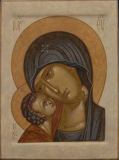 Blessed Virgin Mary, Art Icon, Orthodox Icons, Sacred Art, Rice Paper, My Works, Madonna, Catholic, Religion