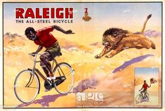 Rayleigh goes on forever Vintage Cycle advert poster reproduction.
