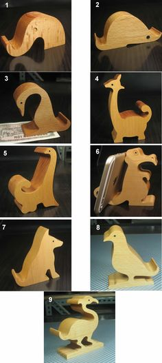 Wooden Animal Shaped Mobile Phone iPad Holder Stand