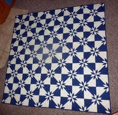 Traditional Hunter Star Quilt. Also saw one on FB that was red, white, and blue and looked amazing.