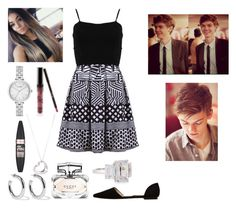 """""""Fancy dinner date with Thomas❤️"""" by emmafayeh ❤ liked on Polyvore featuring FRACOMINA, MANGO, Paul Brodie, Maybelline, Kylie Cosmetics, Sophie Buhai, Kate Spade, Fantasia by DeSerio, Tiffany & Co. and Gucci"""