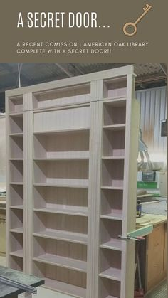 Check out this great new commission piece just completed and ready to be oiled. It's a library with a Secret Door! How cool is that?  Our Showroom & Joinery is located at 78 Farrington St, Alderley, Brisbane 15 minutes from CBD. 📞 07 3352 3485  📧 sales@buywoodfurniture.com.au  #library #secretdoor #hiddendoor #bookshelf #bookshelves #shelves #shelving #books #bespoke #joinery #buywoodfurniture #apartmentliving #custommadefurniture #architecture #interiordesigner #bookstagram Hidden Spaces, Hidden Rooms, Hidden Door Bookcase, Secret Door Bookshelf, Bookcase Plans, Door Shelves, Home Library Design, Appartement Design, Timber Furniture