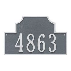 Montague Metal Products Beckford 1 Line Address Plaque Finish: Brick Red/Silver