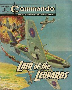 "Commando ""Lair of the Leopards"" Book Cover Art, Comic Book Covers, Cheap Books, Tyranids, War Comics, Adventure Movies, Classic Comics, Leopards, Classic Books"