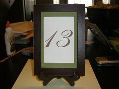 Framed number Unique Table Numbers, Wedding Table Numbers, Frame, Home Decor, Homemade Home Decor, Table Numbers, Interior Design, Frames, Home Interior Design