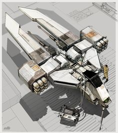 ArtStation - Fighter ship, Eric Lloyd Brown