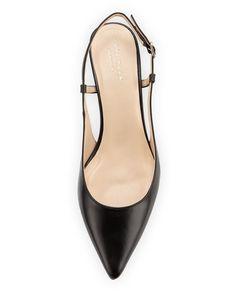 Cole Haan - Juliana Low-Heel Slingback Pump Slingback Pump, Cole Haan Shoes, Leather Pumps, Black Pumps, Low Heels, Smooth Leather, Kitten Heels, Flats, Amazing